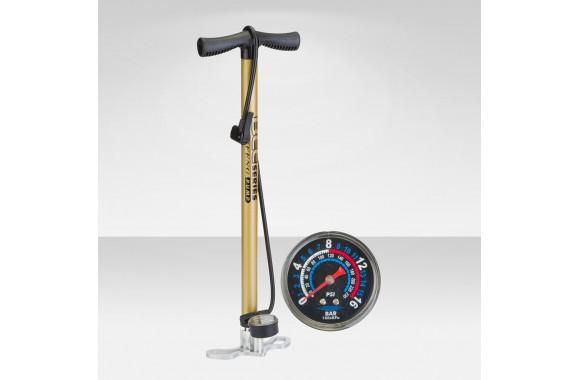 Велосипед Stels Насос ручной стационарный, с манометром, алюминиевый ZF-0807